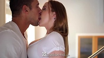 PASSION-HD Pierced nipple Leigh Rose fucked and creampied