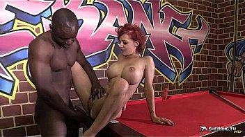 big tits redhead gets BBC