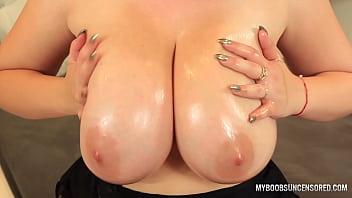 Busty redhead Alexsis Faye Tits Job by brown big Toy