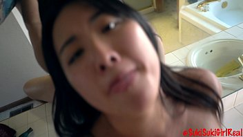 asian girl moaning loud for white mans cum @andregotbars