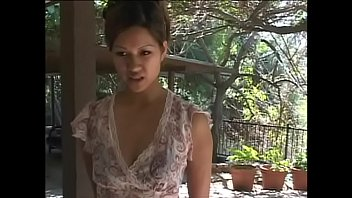 Skinny little Asian floozie Aliyah Likit shows her nice tits riding a long cock