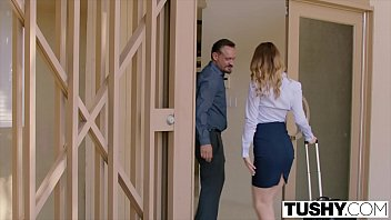 TUSHY Jillian Janson cant believe how big her ass gapes in anal