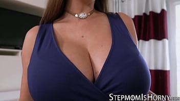 Curvy stepmom riding big dick with glee