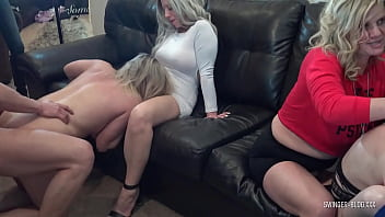 Slutty amateur swinger housewives blowing and fucking massive cocks at amateur swinger party