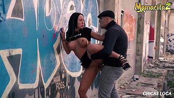 MAMACITAZ - Raunchy Brunette Deborah Diamond Has Sex Outdoor With Antonio Ross