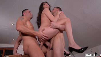 Bokep Hot college student Francesca DiCaprio DP'ed to the extreme during XXX threesome