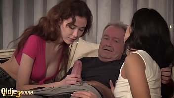 XXX Porn Old guy havng sex with two bitches
