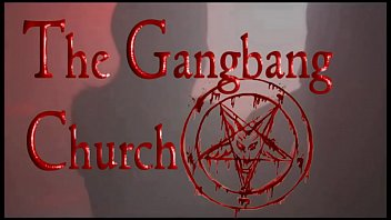 Cumsluts Take Loads In The Gangbang Church