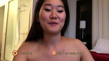 Pale Asian slut fucked Doggy Style