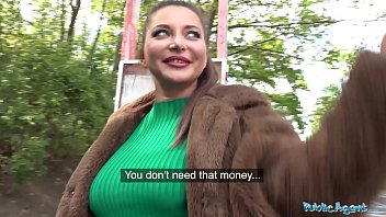 Public Agent Anna Polina pounded outside and showing those great big tits