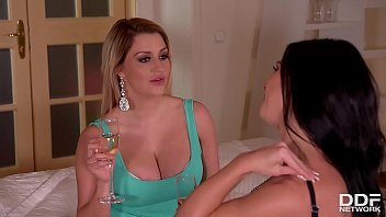 Horny Vixens Sienna Day & Inna Share Big Cock While Licking Their Pussies