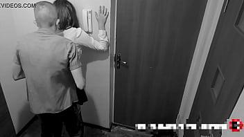 Guy Rough Fucks Beautiful Teen Girl In The Hallway (Hidden Cam)