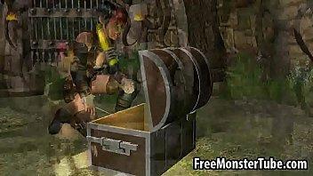 Video Bokep Sexy 3D cartoon Lara Croft toying her wet pussyuinsOfAzeroth EpisodeIV-high 1