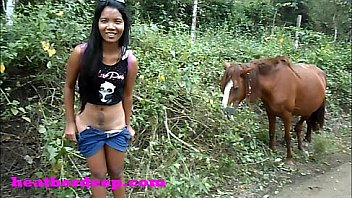 Onlyfans.com/heatherdeep little tiny asian deepthroating teen throatpie famous queen needs to pee next to horse