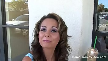 Beautiful brunette mom with big tits wants to make her first porn video