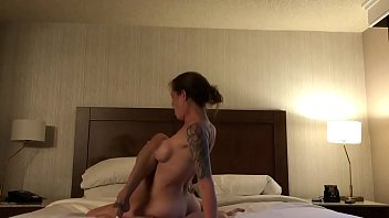 Threesome With a tattooed Ex and her friend.
