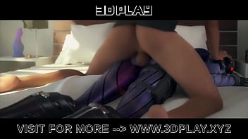 Widowmaker from Overwatch get her ass fucked hard by a big dick