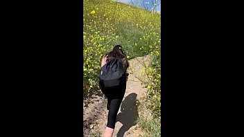Public Outdoor Sex interrupted! She gets fucked everywhere in Malibu