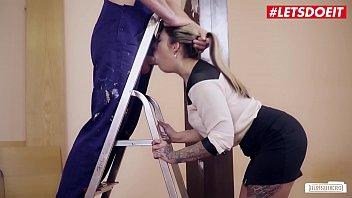 LETSDOEIT - Deutsche Sexy Teen Mia Blow Sucks And Fucks With Jason Steel At Work