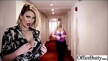 (jasmine leigh rebecca tia) Busty Office Slut Horny Girl Banged clip-17