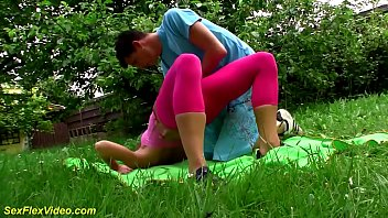 my bubble butt flexible stepsister stretching her hot body outdoor and gets rough fucked in contortion kamasutra sex positions