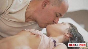 grandpa caught her cute girlfriend masturbating