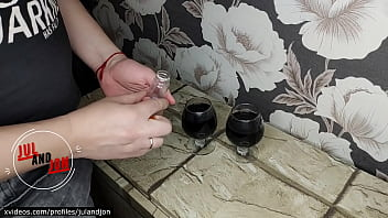 Halloween story. Viagra in wine and girl make her dreams alive with friends big dick! Suck, pussy fuck, hard anal. HOT COOL SEX, BLOWJOB AND ANAL CREAMPIE! JULANDJON.
