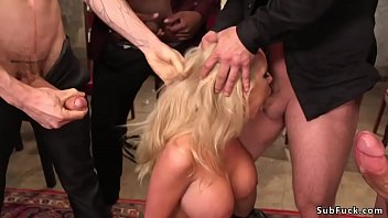 Bokep Miss Texas America with big tits Rachele Richey gets her title and crown off and gets five interracial big dicks in double penetration and gangbang