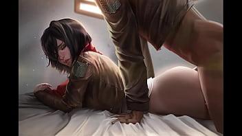 AoT Mikasa hentai pics