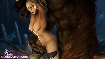 Cute Captive Girl Gets Ravaged By Monster!