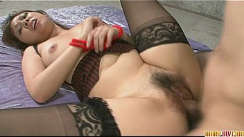 Cute and lovely babe in stockings teasing, fondled and fucked hard