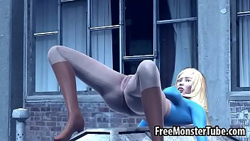 3D Supergirl getting her pussy licked by Catwoman
