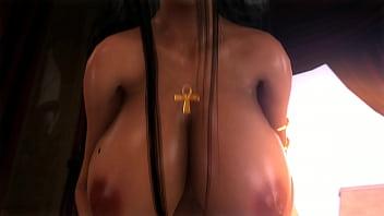 3d hentai girl enjoying a cock