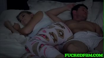 Horny Teen Get Into Bed With Stepdad