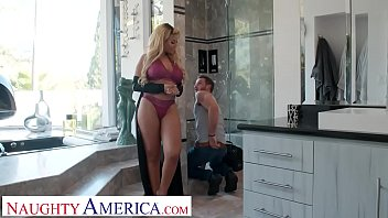Bokep Bridgette B has the plumber fix her pipes with his big dick
