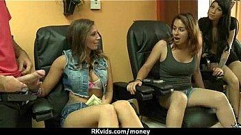 Amateur hottie takes cash for public sex 17