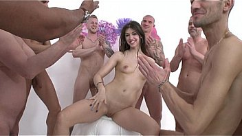 Susan Ayn 12 man gangbang with DP & DAP SZ1257