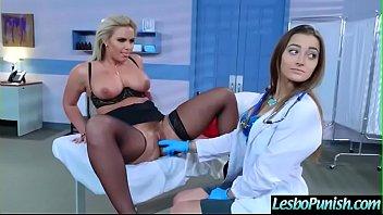 XXX Porn Busty lesbian MILF having fun by the doctor