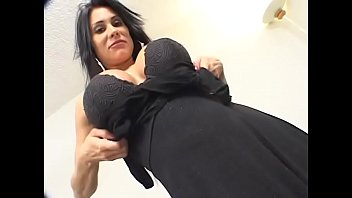 Big tits brunette babe Rossana gets her ass drilled hardcore by two experienced studs