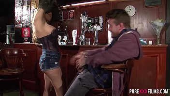 Big tits milf bar slut loves sex with customers