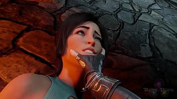 Lara Croft in a hot anal sex scene