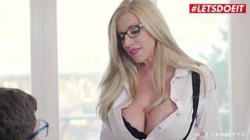 DOE PROJECTS - Lara De Santis - Big Cock Boy Gets To Bang Hardcore With His MILF Teacher