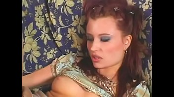 Pretty redhead chick Katrina B shares her pussy ti be fucked by a dude