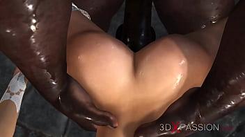 Young bride dreams of being fucked by a big black cock at a wedding