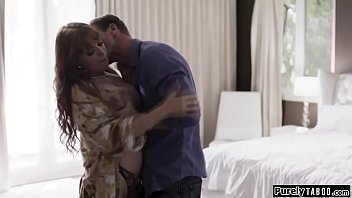Bokep Cheating busty redhead wife sucks her hubbys best friend when he comes home.Dressed up in lingerie she kisses him and sucks his cock.After he fucked her hes called back to work.Not knowing his best friend is still there she is fucked by him as well