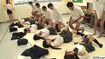 Bokep Future Japan mandatory sex in school featuring many virgin schoolgirls having missionary sex with classmates to help raise the population in HD with English subtitles