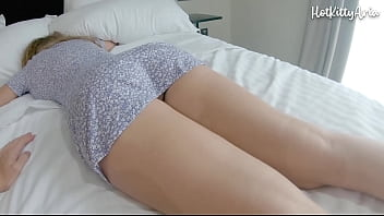 Young sister with big tits and big ass groped while s., fucked and creampie