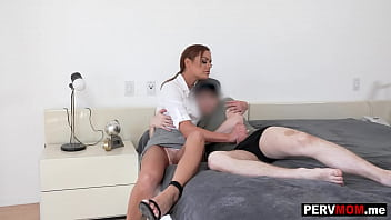 My stepmom is a total MILF and I was surprized when she woke me up with a BJ