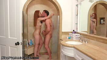 Hot Cheating Redhead is Nearly Caught with Another Guy in Shower