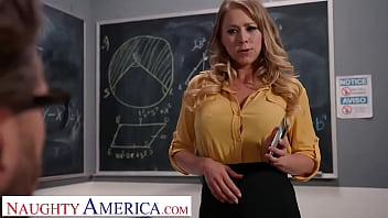 Naughty America - Blonde babe with big tits sucks and fucks a hard cock
